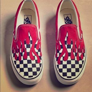 Custom Red Drip Vans Limited Edition